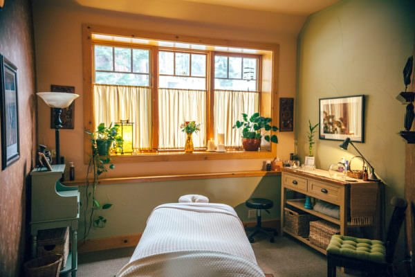 A beautiful room in our sanctuary for acupuncture, wellness and massage.