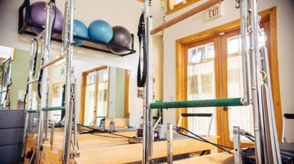 Pilates machines in the studio at The Sanctuary