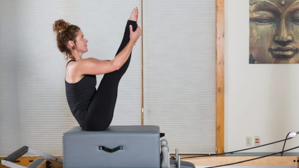 Pilates instructor practicing at The Sanctuary